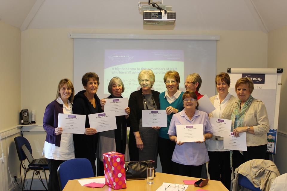 Long service award group photo